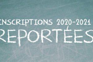 INSCRIPTIONS 2020-2021 reportées Eva de vitray